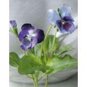"Artificial pansy MELINDA, purple, 6""/15cm"