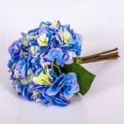 "Bouquet of artificial Hydrangeas KLARA, blue, 12""/30cm, Ø 7""/18cm"