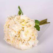"Bouquet of artificial Hydrangeas KLARA, cream-light pink, 12""/30cm, Ø 7""/18cm"