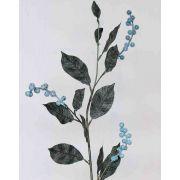 berry branch, sugared, 75cm, 3-f