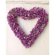 """Artificial baby's breath heart AGATHA, purple, Ø8""""/20cm"""