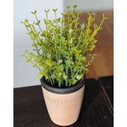 "Artificial thyme PERCIVAL in clay pot, green, 8""/20cm"