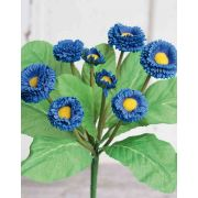 "Artificial daisy PEGGY, on spike, blue, 10""/25cm"