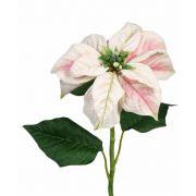 """Fake Christmas flower MARRIT, white-pink, 28""""/70cm, Ø8""""/20cm"""