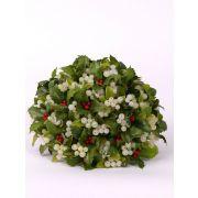 "Artificial mistletoe and holly MALTE, green-white, 8""/20cm, Ø8""/20cm"