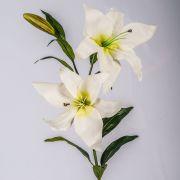 "Fake lily KIRSTEN, white, 3ft/95cm, Ø6""/15cm"