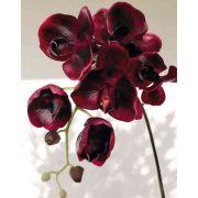 Artificial Phalaenopsis orchid spray DAJANA, burgundy red, 4ft/115cm