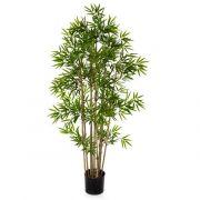 "Artificial Bamboo YAN, natural bamboo canes, green, 31""/80cm"