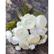 Bouquet of silk ranunculus TONIE, cream, 20cm, Ø20cm