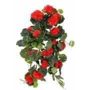 "Artificial hanging geranium ANTON on spike, red, 26""/65cm, Ø2""-3.1""/5-8cm"