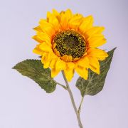 "Fake sunflower SILJA, yellow-orange, 26""/65cm, Ø5.1""/13cm"