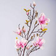 Fake magnolia spray LILO, pink-white, 110cm, Ø5-9cm
