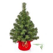 """Fake Xmas tree WARSAW, jute bag in red, 24""""/60cm, Ø 16""""/40cm"""