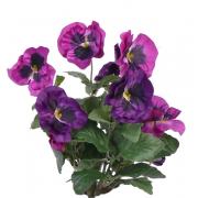 "Fake pansy HILDE spike, purple, 12""/30cm, Ø3.1""/8cm"
