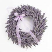 """Wreath of Lavender on rattan, violet, Ø 16""""/40cm"""