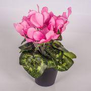 Fake cyclamen HEIDI in a decorative pot, pink, 25cm, Ø5-8cm