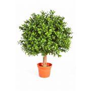 "Artificial Boxwood ball topiary TOM, natural stem, 14""/35cm, Ø 10""/25cm"