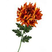 "Plastic chrysanthemum KESARA, orange, 26""/65cm, Ø6""/16cm"