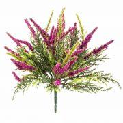 "Silk heather ALMINA on spike, pink, 8""/20cm, Ø0.2""/0,5cm"
