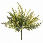 "Silk heather ALMINA on spike, white, 8""/20cm, Ø0.2""/0,5cm"
