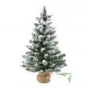 "Fake Christmas tree REYKJAVIK, jute bag, snow-covered, white, 24""/60cm, Ø 10""/25cm"