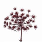 "Artificial dill flower spray KURAM, burgundy, 18""/45cm, Ø14""/35cm"