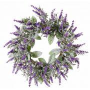 Artificial lavender wreath LODOS, violet, Ø30cm