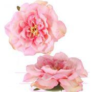 "Fake rose blossom SASKIA, floating, pink, 2""/5cm, Ø6""/15cm"