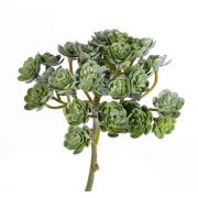 "Fake echeveria BLAIR on spike, green, 8""/20cm, Ø4""/10cm"