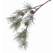 "Fake fir branch CALEB with cones, frozen, 31""/80cm"