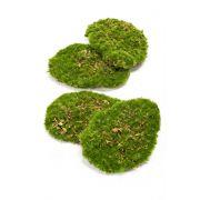 "Artificial decoration moss pieces HEFEI, 4 pieces, green, 4.3""x6""x2""/11x15x5cm"