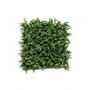 """Artificial eucalyptus hedge / mat JASE, crossdoor, green, 20""""x20""""/50x50cm"""