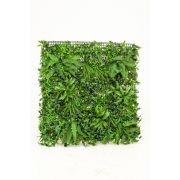 Artificial fern, grass and boxwood mat LORENZA, crossdoor, 3ftx3ft/100x100cm
