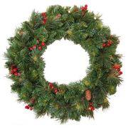 "Artificial Christmas wreath BUCHAREST, decorated, Ø24""/60cm"