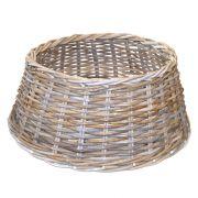 "Christmas tree basket MACARIO made of rattan, grey-brown, 10""/26cm, Ø24""/60cm"