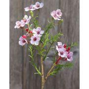 """Artificial wax flower AISHA, light pink, 10""""/25cm"""
