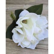 "Artificial magnolia bouquet KAYLE, cream-white, 12""/30cm"
