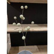 Artificial branch Gomphocarpus MALIO with fruits, frozen, light green, 80cm