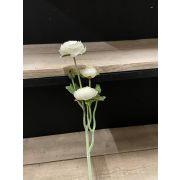 Artificial ranunculus branch JALMA, white, 50cm